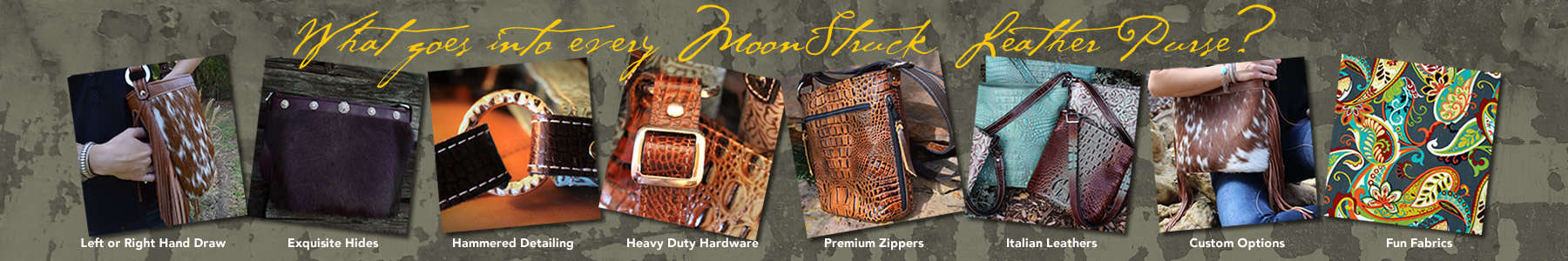 Only the finest materials and workmanship go into Moonstruck Leather's Crossbody Concealed Carry Purses.