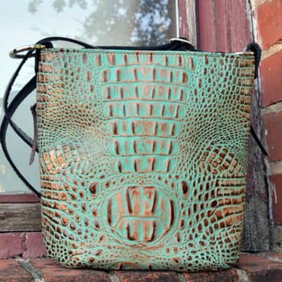 Concealed carry pistol purse in mint chocolate chip.