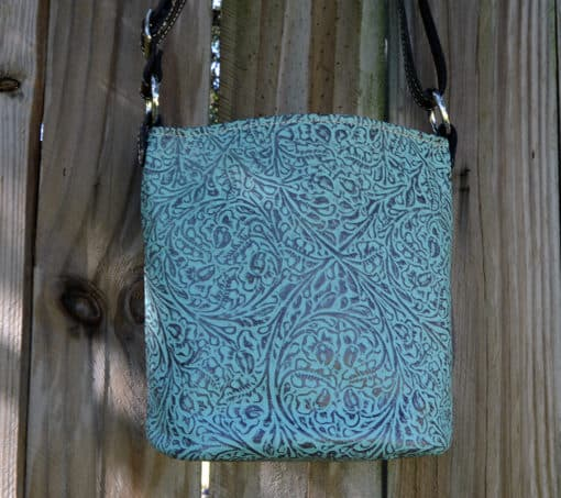 Concealed Pistol Purse in western tooled leather style