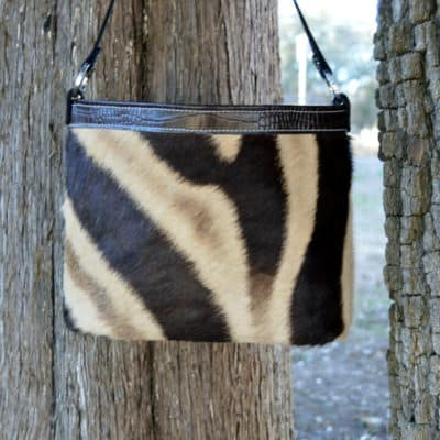 genuine zebra concealed carry purse