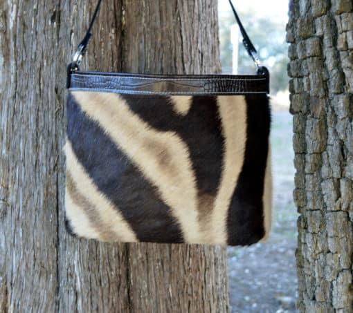 genuine zebra concealed carry purse