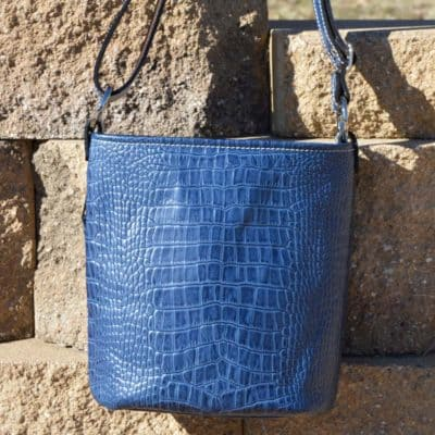 Indigo Blue Barcelona Concealed Carry Purse in Bucket Style