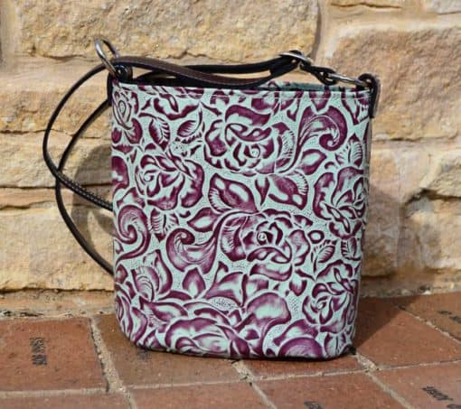 Turquoise Rose Concealed Carry Purse - Classic Style