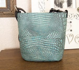 Antique Turquoise Bucket Style Concealed Carry Purses