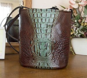 Aqua Brown Concealed Carry Purse