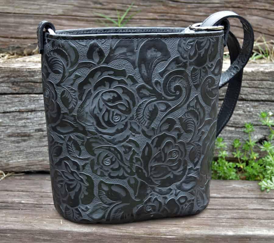 Black Rose Concealed Carry Bucket