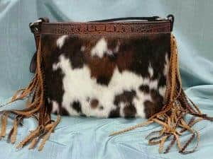 Butternut and Spotted Hair on Hide Concealed Carry Purse