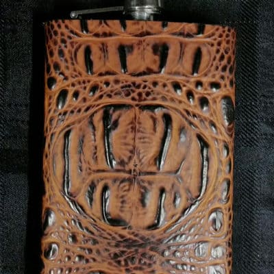 Butternut Leather Covered Flask