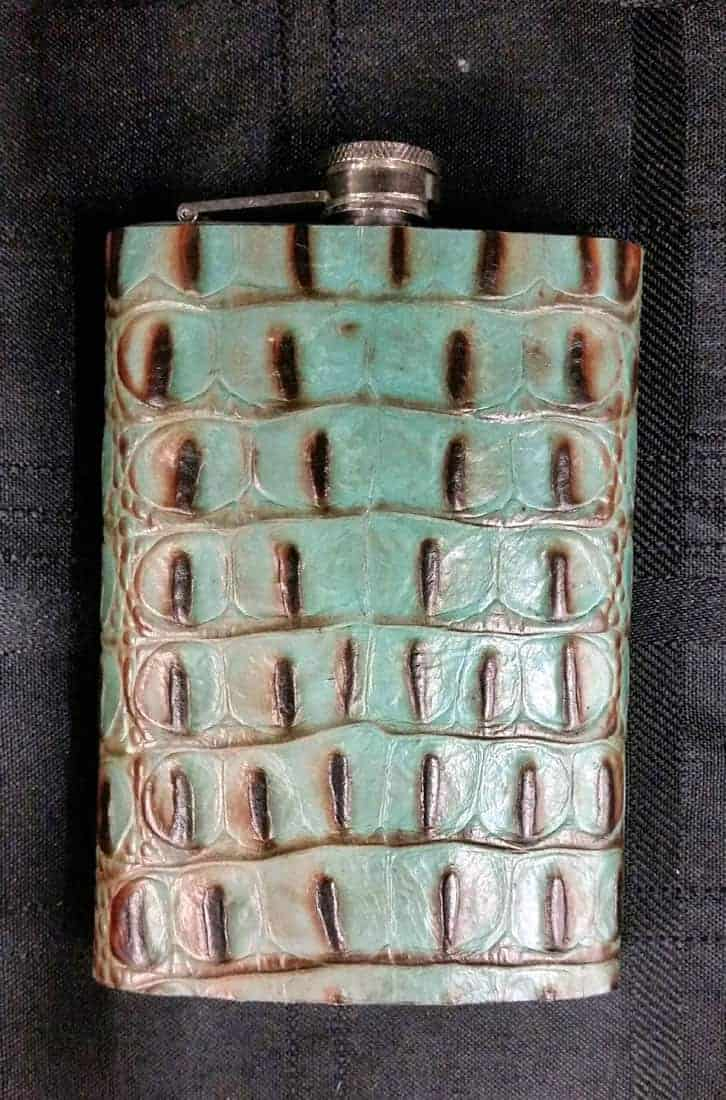 Mint Chip Leather covered flask
