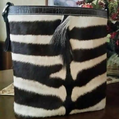 Zebra with Mane Concealed Carry Purse Classic Tall