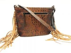 Butternut Brindle Crinkle fringe conceal carry purse