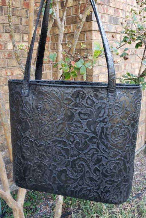 black rose tote
