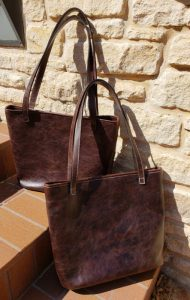 distressed espresso concealed carry tote